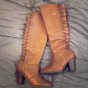 Lace Up Wise Calf Boots